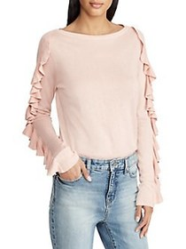 Lauren Ralph Lauren Ruffled-Sleeve Sweater PINK