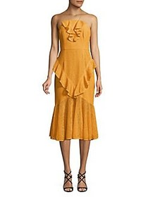 Cooper St Off-Shoulder Eyelet Ruffle Dress BEES WA