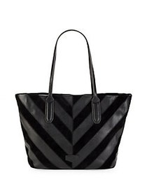 Aimee Kestenberg Chevron Combo Leather Tote BLACK