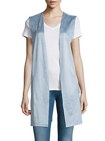 Context Sleeveless Open Front Vest AZURE SKY