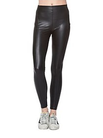 David Lerner Mid-Rise Stitched Leggings BLACK