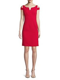Nue By Shani Cold-Shoulder Sheath Dress TANGO RED
