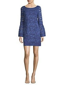 Laundry by Shelli Segal Lace Bell-Sleeve Shift Dre