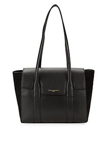 Karl Lagerfeld Paris Logo Leather Tote Bag BLACK
