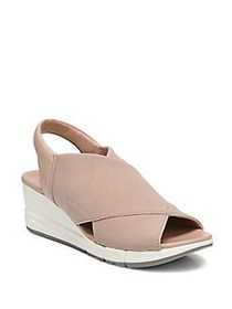 Naturalizer Isabella Leather and Textile Wedge Mul