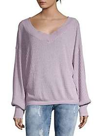 Free People South Side Thermal Pullover LILAC
