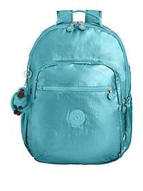 Kipling Seoul Go Laptop Backpack METALLIC BLUE