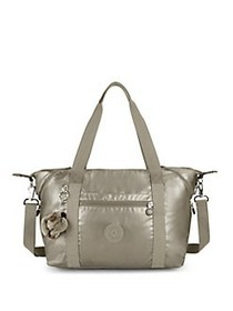 Kipling Art M Tote Bag METALLIC PEWTER