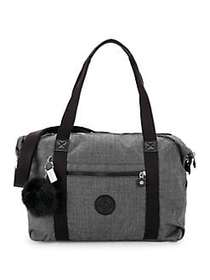 Kipling Art Expandable Satchel GREY