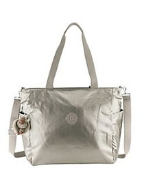 Kipling Lindsey Top Zip Metallic Tote METALLIC PEW
