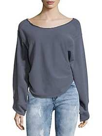 Free People Side Cinched Pullover NAVY
