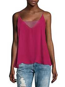 Free People Lace-Accented Camisole RASPBERRY