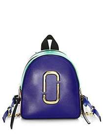 Marc Jacobs Coated Leather Backpack ACADEMY BLUE M