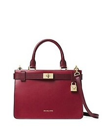 MICHAEL Michael Kors Tatiana Small Satchel RED
