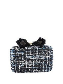 Sondra Roberts Evening Convertible Bow Clutch BLAC