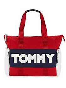 Tommy Hilfiger Logo Tote NAVY RED
