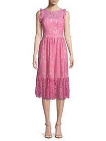 Eliza J Sleeveless Lace Midi Dress PINK