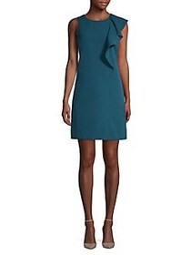 Vince Camuto Ruffled A-Line Dress TEAL