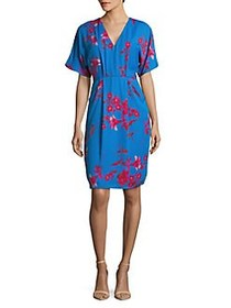 Phase Eight Floral-Print Sheath Dress DELPHINIUM