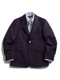 Lord & Taylor Boy's Husky Gold-Button Wool-Blend N