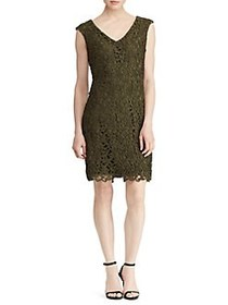 Lauren Ralph Lauren Scalloped-Lace Sheath Dress GR