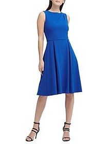 Donna Karan Classic Sleeveless Fit-and-Flare Dress