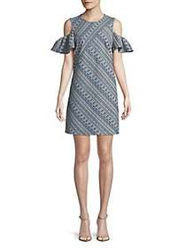 Laundry by Shelli Segal Printed Chambray Cold-Shou