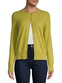 Lord & Taylor Essential Cashmere Cardigan BANANA L