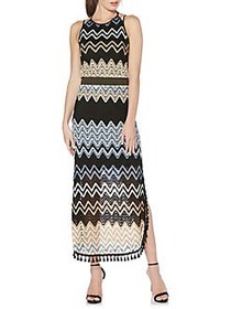 Laundry by Shelli Segal Zigzag Pointelle Maxi Dres