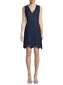 Laundry by Shelli Segal Lace Fit-And-Flare Dress M
