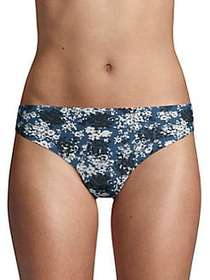 Calvin Klein Printed Invisibles Thong BLUE FLORAL