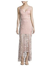 Nicole Miller New York Lace High-Low Mermaid Gown