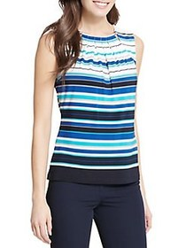 Tommy Hilfiger Sleeveless Beaded Top SURF BLUE