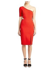 Jill Jill Stuart One-Shoulder Sheath Dress CARDINA