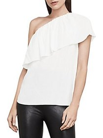 BCBGMAXAZRIA Kamila One-Shoulder Top WHITE