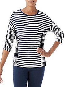 Olsen Multi-Stripe Tee DARK PACIFIC