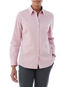 Olsen Dobbie Dot Print Shirt BERRY