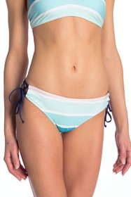 Splendid Striped Side Tie Bikini Bottom