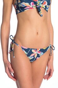 Splendid Floral Printed Side Tie Bikini Bottoms
