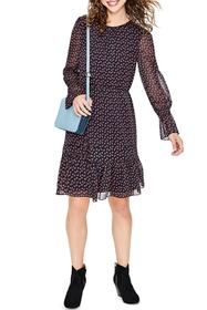 BODEN Gathered Hem Midi Dress