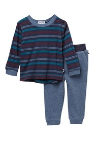 Splendid Stripe T-Shirt & Sweatpants Set (Baby Boy