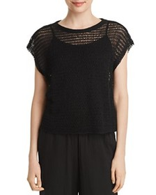 Eileen Fisher Eileen Fisher - Open-Knit Cropped To