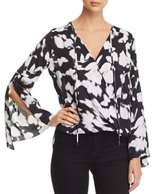 Kenneth Cole Kenneth Cole - Bell-Sleeve Wrap Top