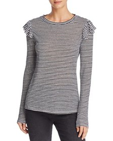 FRAME FRAME - Ruffled & Striped Top - 100% Exclusi