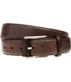 Joseph Abboud Stitched-Edge Distressed Leather Bel