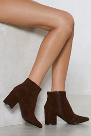 Faux Suede Our Wardrobe Ankle Bootie