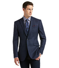1905 Tailored Fit Heathered Check Sportcoat - Big