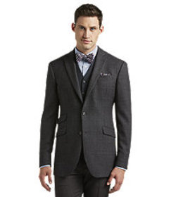 1905 Collection Tailored Fit Grey Plaid Sportcoat