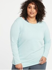 French Terry Keyhole-Back Plus-Size Performance Sw