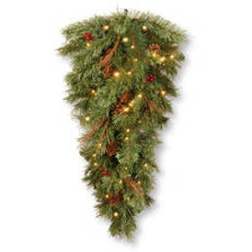 National Tree 36in. LED Battery Operated Pine Tear